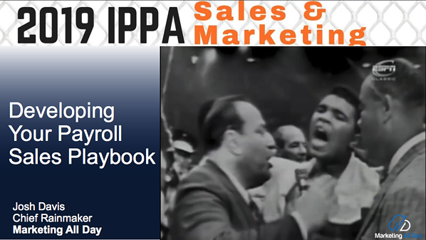 Payroll Sales Playbook Slides from IPPA