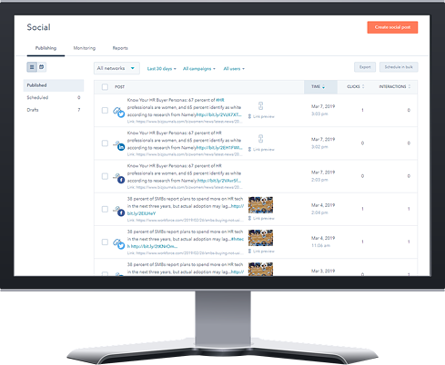 Managing HR Social Media Marketing on a Desktop