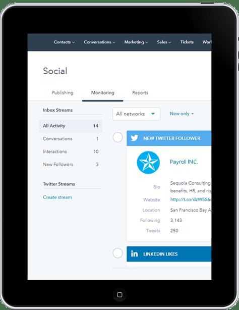 Monitoring HR Social Media Marketing On a Tablet